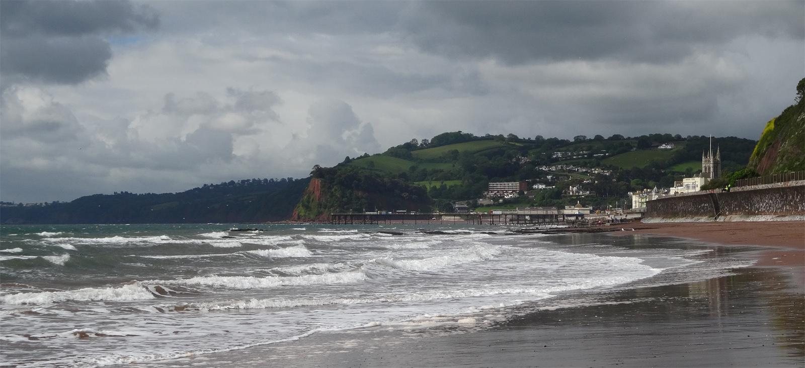 Teignmouth beach, Devon