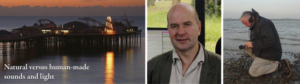 (left) Palace Pier, Brighton , (centre) Professor Hugo Critchley, (right) Mark Ware Photos: Mark and Sara Ware